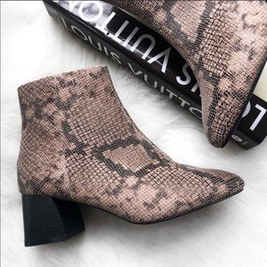 Topshop Snake Wide Fit Babe Ankle Booties Boots